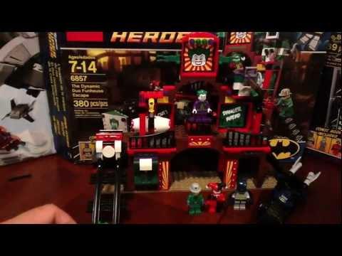 Lego DC Super Heroes Batman The Dynamic Duo Funhouse Escape Set # 6857 Review