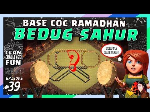 SERUNYA BASE RAMADHAN BEDUG SAHUR!   CLAN CHALLENGE FUN #39