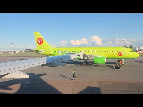 S7 Siberia Airlines A319 Moscow Domodedovo - Kazan Safety, Takeoff, Inflight & Landing