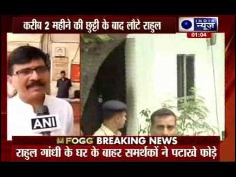 Rahul Gandhi returns India after 57-day absence, BJP mocks him