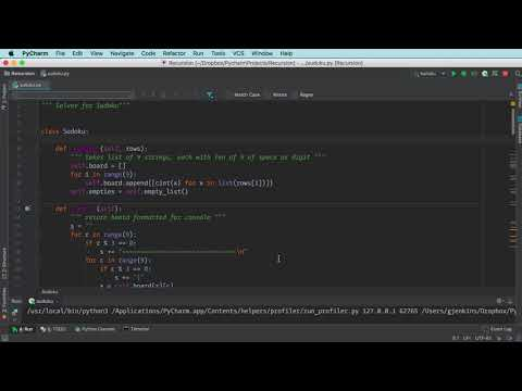 PyCharm python code profiling demo (2min)