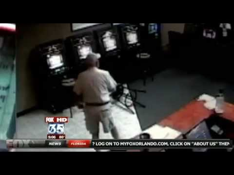 63 Year Old Man Legally Armed Shoots Robbers at Florida Internet Cafe