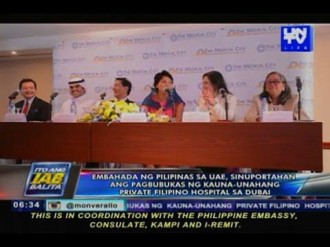 PHL Embassy, sinuportahan ang pagbubukas ng unang private Filipino hospital sa Dubai