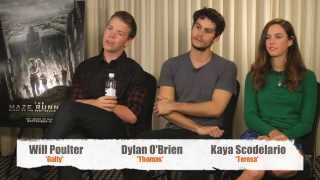 THE MAZE RUNNER Interview - Dylan O'Brien, Kaya Scodelario & Will Poulter |