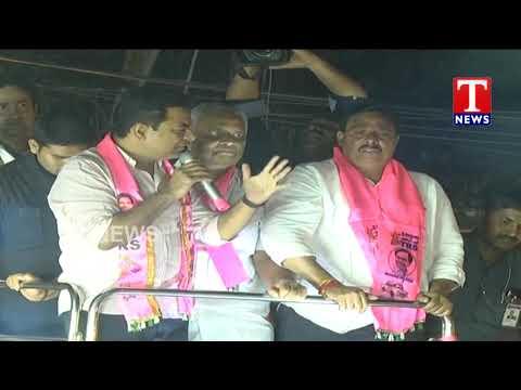 Minister KTR Road show | Filmnagar | Hyderabad | TNews Telugu