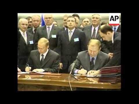UKRAINE: KUCHMA AND PUTIN DISCUSS ECONOMIC LINKS