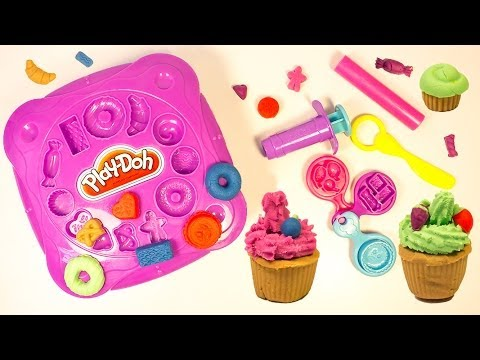 Play Doh Tupperware Cupcakes Playdough Desserts Cupcake Tower Baking Station Hasbro Toys