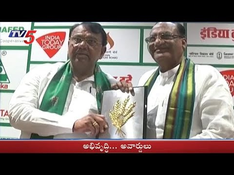State with Rapid Agriculture Growth Award to Telangana State | TV5 News