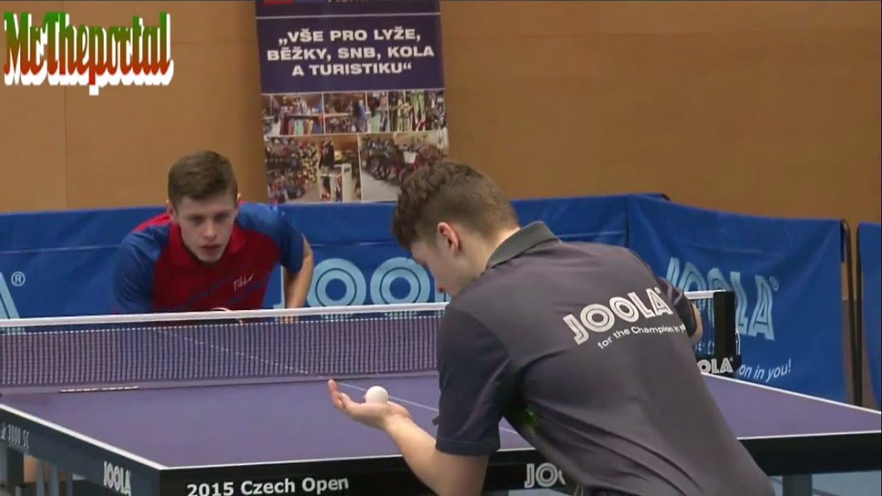 Table Tennis Czech Junior Championships 2016 - Tomas Polanski Vs Patrik Klos -