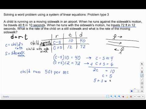 Solving A Word Problem Using A System Of Linear Equations