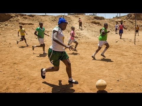 All-girl soccer team in Kenya slum