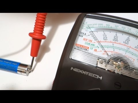 How to Test your Batteries (AA or AAA batteries) using a Multimeter - by geoffmobile