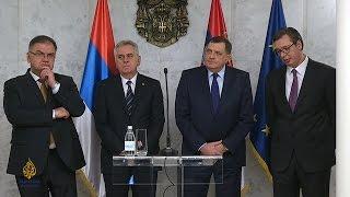 Poruke Nikolića, Dodika, Ivanića i Vučića iz Beograda