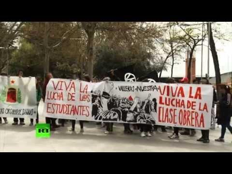Тысячи студентов вышли на улицы Мадрида