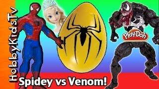 WHOs in the BIG Yellow Egg? Spiderman Vs Venom