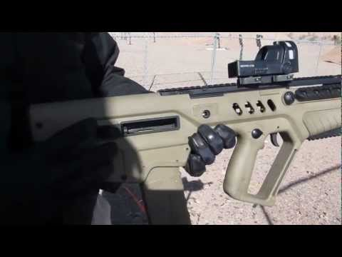 IWI Tavor 21 Bulpup Rifle shooting at SHOT Show 2013