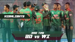 Bangladesh vs Windies Highlights || 3rd T20 || Windies tour of Bangladesh 2018