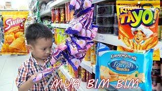 Bé đi Siêu thị mua Bim Bim - Bánh kẹo và Coca cola ❤ BonBon TV ❤