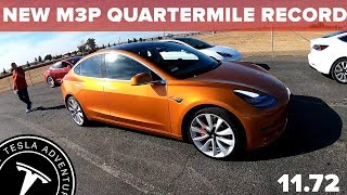 NEW Tesla Performance Model 3 Quarter Mile Record!