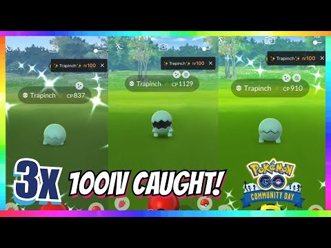 3x 100iv SHINY TRAPINCH CAUGHT & EVOLVED in Pokemon Go! ( INSANE SHINY REACTIONS )