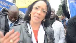 Manifestation devant les Nations Unies pour la Libération de Karim Wade