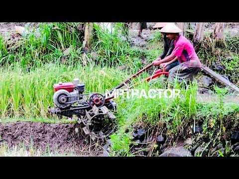 Two Wheel Walking Hand Tractor Quick Capung Metal Traktor Working