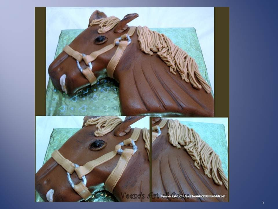 Decorating A Horse Cake For Birthday