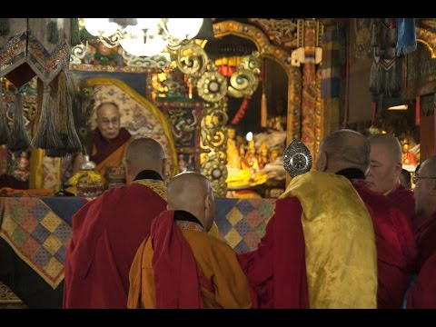 Далай-лама в главном монастыре Монголии