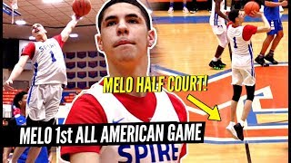 LaMelo Ball HALF COURT SHOT In 1st ALL AMERICAN Game vs Julian Newman!! Melo PUTS ON A SHOW!