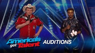 Syum & Juggling Taxi: Odd Juggling Duo Get Silly Onstage - America's Got Talent 2015