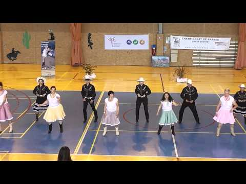 Championnat De France Country Et Line Dance 2013 Team Show  country Soleil video
