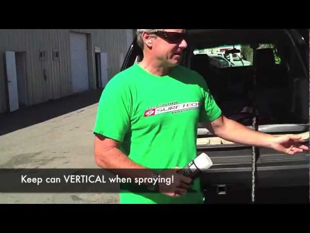 Surftech Quick Grip spray can - HOW TO
