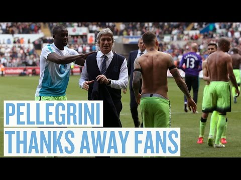 PELLEGRINI THROWS JACKET INTO CITY AWAY FANS!