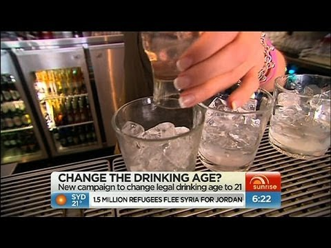 Campaign to raise drinking age to 21