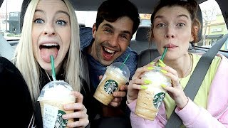 TRYING SECRET MENU STARBUCKS DRINK w/ JOSH PECK