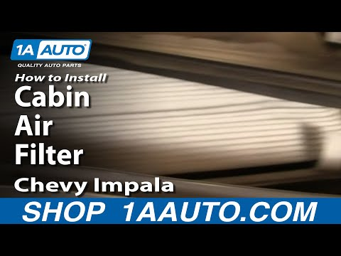 How to Install Repair Replace Cabin Air Filter Chevy Impala 00-05 1AAuto.com