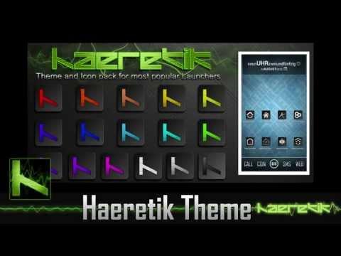Haeretik Theme and Icon Pack - Nova. Apex. GO Launcher EX and more...