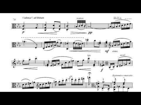 J.Chr.BACH-CASADESUS - Viola Concerto, II mov. (cadenza: R.Molinelli)