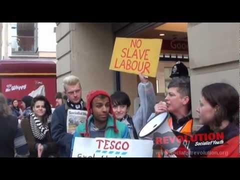 Manchester Protest Against Tesco 'Slave Labour' - 18/02/12