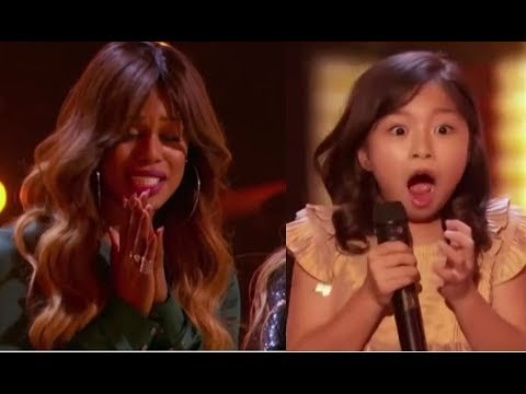 Celine Tam: Wonder-child Singer Gets Laverne Cox's GOLDEN BUZZER   America's Got Talent 2017 thumbnail