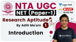 NTA UGC NET 2020 (Paper-1) | Research Aptitude by Aditi Ma'am | Introduction