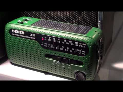 Degen DE 31 solar radio with China Radio International 6020 khz
