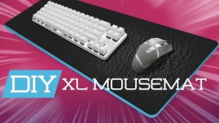 Make Your Own XL Mouse Mat | DIY Leather Mousemat Tutorial