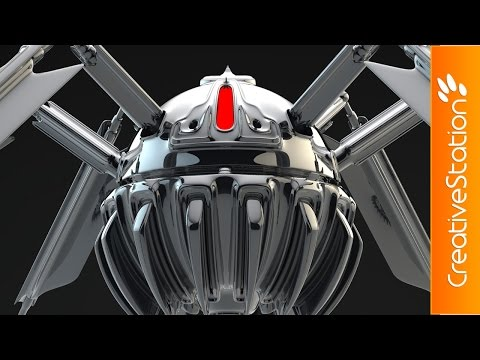 Spiderbot - 3D Speed art (#Cinema4D) | CreativeStation