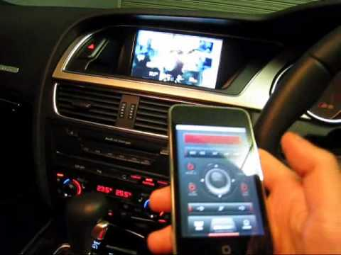 audi S5 A5 iphone/ipod touchでCAR-AUDIOを操作してみた。(Wireless Remote control System)