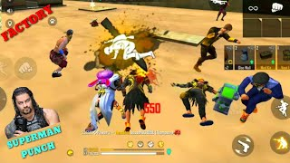 FREE FIRE FACTORY KLA ON FIRE - FF FIST FIGHT KING - ANOTHER OVERPOWER GAMEPLAY 2 - GARENA FREE FIRE