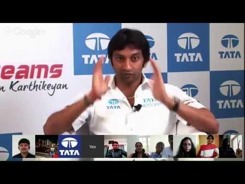 Google+ Hangout with Narain Karthikeyan