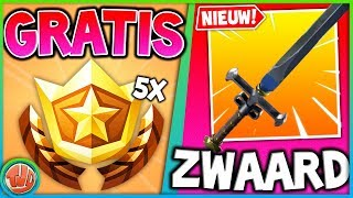 *NIEUW* MYTHIC ZWAARD!?! GRATIS 5 BATTLE STARS!! BEELDEN EVENT!! - Fortnite: Battle Royale