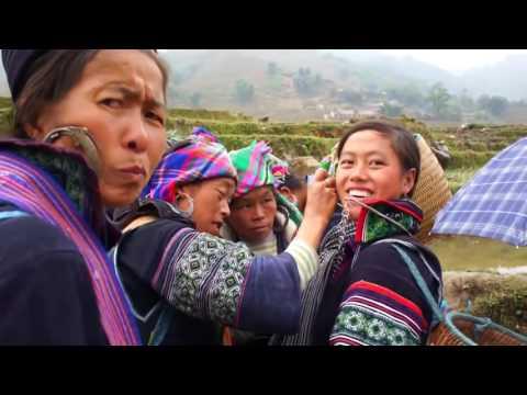 Travel 2010 Uncut trekking Video, Black Hmong Sapa Village. edited in HD 34/6 (HD)