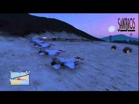GTA 5 Online-| Daily Crew Flex | Fighter Jet, Ambulance surfing, & Much More